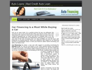 autoloans4u.wordpress.com screenshot