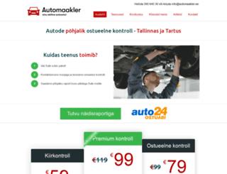automaakler.ee screenshot