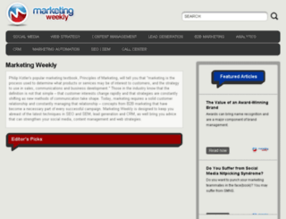 automation.marketingweekly.com screenshot