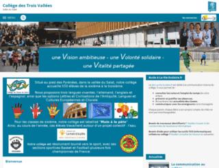 automne-col-trois-vallees-salies-du-salat.ac-toulouse.fr screenshot