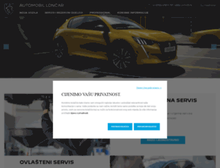 automobil-loncar.peugeot.hr screenshot