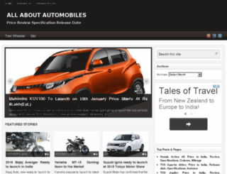 automobilesreview.co.in screenshot
