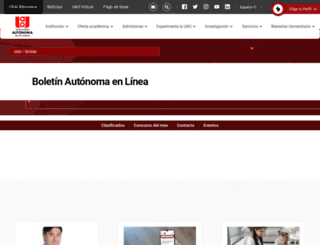 autonomaenlinea.uao.edu.co screenshot