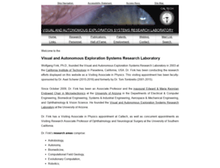 autonomy.caltech.edu screenshot