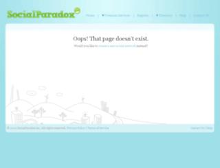 autonumen.socialparadox.com screenshot