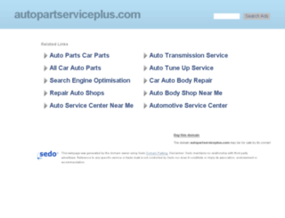 autopartserviceplus.com screenshot