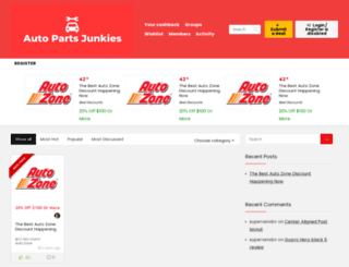 autopartsjunkies.com screenshot