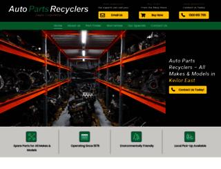 autopartsrecyclers.net.au screenshot