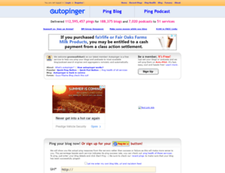 autopinger.com screenshot