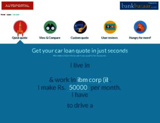 autoportal.bankbazaar.com screenshot