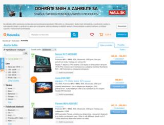 autoradia.heureka.sk screenshot
