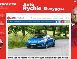 autorevue.cz screenshot
