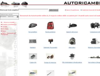 autoricambi-online.it screenshot
