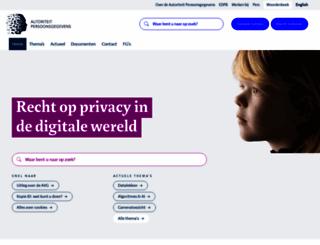 autoriteitpersoonsgegevens.nl screenshot