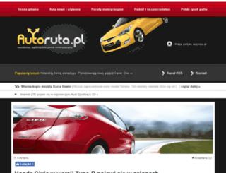 autoruta.pl screenshot
