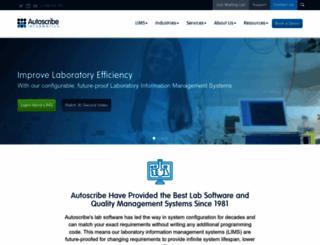 autoscribe.co.uk screenshot