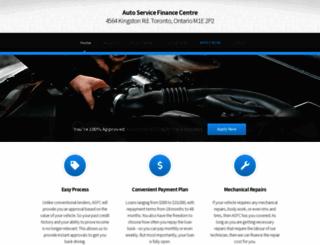 autoservicefinancecentre.com screenshot