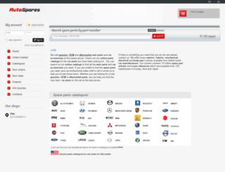 autospares.eu screenshot