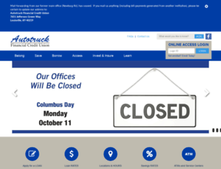 autotruckfcu.org screenshot
