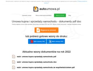 autoumowa.pl screenshot