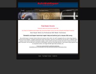 autowebrepair.com screenshot