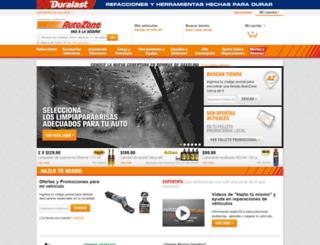 autozone.com.mx screenshot