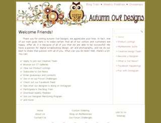 autumnowldesigns.com screenshot