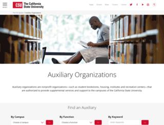 auxiliary.calstate.edu screenshot