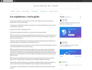 auxinfosdunain.blogspot.fr screenshot