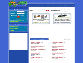 auzzietransport.com screenshot