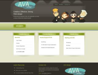 avadesign.ca screenshot