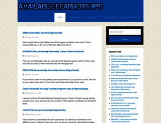 availablelearnerships.com screenshot