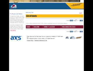 avalanche.flashseats.com screenshot