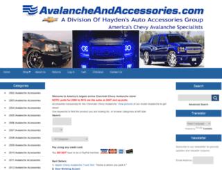 avalancheandaccessories.com screenshot