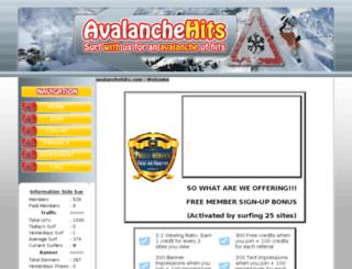avalanchehits.com screenshot