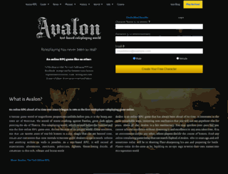 avalon-rpg.com screenshot