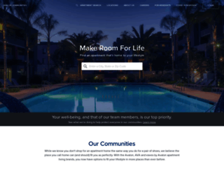 avaloncommunities.com screenshot