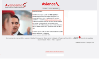 avancemos.avianca.com screenshot