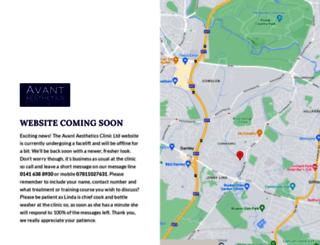 avantaestheticsclinic.co.uk screenshot