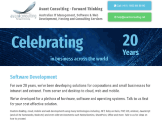 avantconsulting.net screenshot