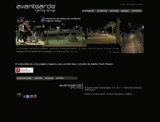 avantgardeiluminacion.com screenshot
