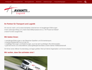 avanti-logistik.de screenshot