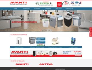 avanti-ltd.com screenshot