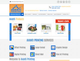 avantiprinting.com screenshot