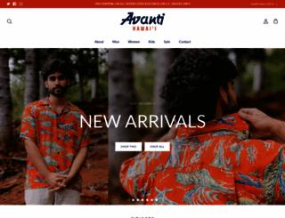 avantishirts.com screenshot