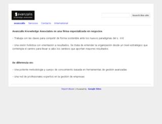 avanzalis.com screenshot
