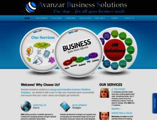 avanzarbusinesssolutions.com screenshot