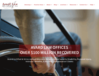 avardlaw.com screenshot