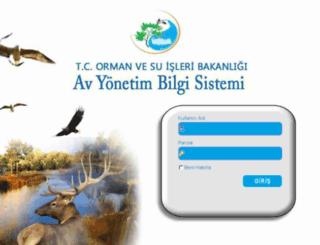 avbis.ormansu.gov.tr screenshot