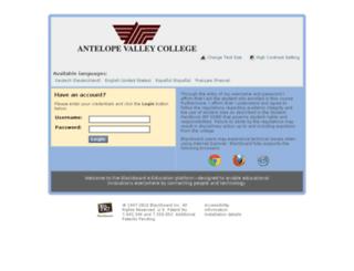 avc.blackboard.com screenshot